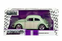 1959 VW Bug Volkswagen Beetle Diecast Car 1:24 Jada 7 inch Green Chrome Rims