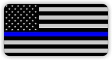 Police American Flag Helmet / Hard Hat Sticker / Decal USA Law Enforcement Blue