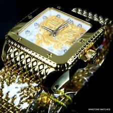 Invicta Cuadro Ghost Dragon Automatic Gold Plated Steel Mesh 46mm Watch New