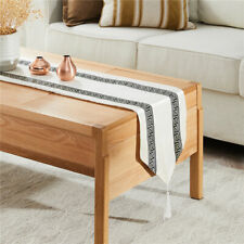 Stripe Geometric Modern Luxury Table Runners Cloth with Tassels Dining