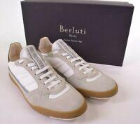 Berluti NWB California 1 Sneakers in White w/ Tan Suede 8 9 D US Incolla $890