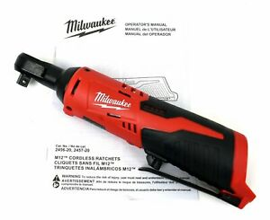 Milwaukee M12 12V Lithium-Ion 3/8 in. Ratchet Wrench 2457-20