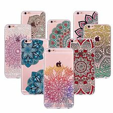 New Ombre India Mandala Case Cover For iPhone 5 5S SE 6 6S Plus Transparent TPU