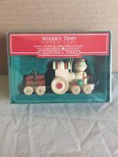 Hallmark 1985 Wooden Train #2 in Nostalgic Childhood Ornament Collectible