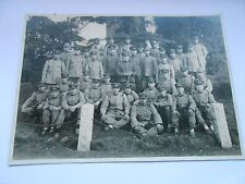 2ww  vintage  japanese soldiers with officer  group photograph