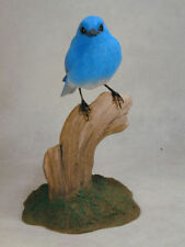 Mountain Bluebird Original Wood Carving