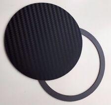 Magnetic Tax Disc Holder carbon fiber effect BLACK 3D universal fits all cars