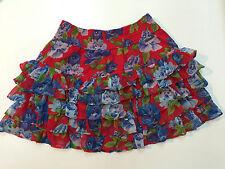 Abercrombie Women Teen Junior Ruffle Floral Skirt Size S
