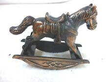 "VINTAGE DOLLHOUSE ROCKING HORSE  METAL DURHAM 2 1/2"" X 2"" TALL"