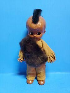 "Vintage Native American Indian Mohawk  6"" boy doll hard plastic sleepy eyes"