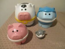 Set 4 Vintage Little Tikes FARM Nesting Stacking ANIMALS Cow Sheep Pig Mouse