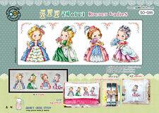 Rococo Ladies - Cross stitch pattern book. Big Chart. SODAstitch SO-G95