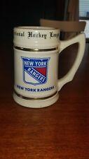 Vintage New York Rangers NHL Ceramic Beer Stein Lewis Bros