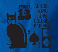 ALBERT KING Ringspun Cotton T-Shirt Blues Stax Rock Soul Guitarist Guitar Tee