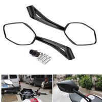 Noir Moto Rétroviseur miroir blanc droit universel 8/10MM Scooter pour harley