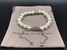 DAVID YURMAN Spiritual Bead Bracelet Sterling Silver With Freshwater Pearl NWOT