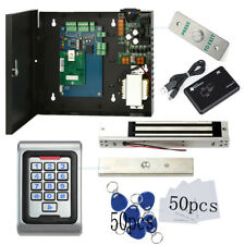 Outdoor 1 Door Access Control Systems Kit Magnetic Lock+Waterproof Keypad Reader