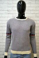 Maglione in Lana Uomo COLMAR Grigio Taglia S Pullover Felpa Cardigan Sweater Man