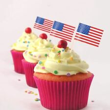 500 X USA America Flag Picks Party Food Catering Cupcake Sandwich Cocktail Stick
