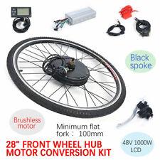 """28 """" 48V 1000W Kit de conversión de bicicleta eléctrica de rueda delantera & LCD"""