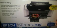 Epson Stylus Photo R200 Digital Photo Inkjet Printer CD DVD Printing NEW