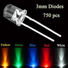 3mm Round bright light LED Five Colors 10 value 300pcs Assortment kit 080070 New