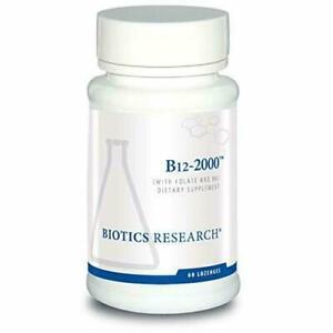Biotics Research B12 Lozenges- Vitamin B6 & B12 2000 Lozenges with Folate, 60 Ct