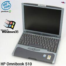 NETBOOK NOTEBOOK HP OMNIBOOK 510 INTEL PENTIUM 3 1G 512MB LAPTOP WINDOWS 98 WLAN