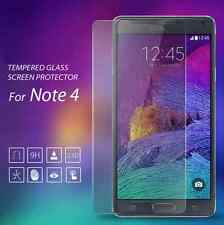 9H+ Screen Protector Guard For Samsung Galaxy Note 4  Ballistic Tempered Glass F