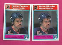 2 X 1982-83 OPC # 4 RANGERS MIKKO LEINONEN  RB ROOKIE CARD (INV# C4956)
