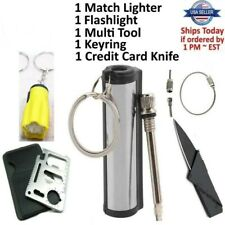 Credit Card Knife 11 in 1 Multi Tool 4 Lot wallet thin pocket survival micro Usa