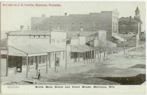 c1908 Harrison Nebraska North Main Street - The Sun newspaper office