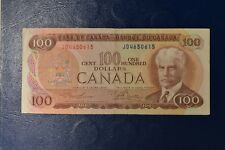 Canada 1975 Series $100 ONE HUNDRED Dollar Bill # JD4650615 - circulated