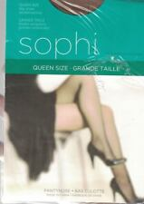 Sophi Day Sheer Queen Size Pantyhose Beige Fits Up to 190lbs Reinforced Toe New