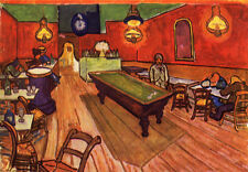 Oil painting Vincent Van Gogh - inside the cafe Interior Landscape
