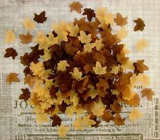 LOOSE ACRYLIC-LUCITE BEADS-MAPLE LEAF-LEAVES-MIXED BROWN-45 BEADS-PLUS FREE GIFT