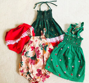 New !! Handmade Xmas Dress , Would Fits Girl Size 1-2