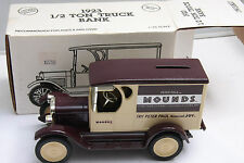 Ertl 1992 Hershey's Mounds 1923 1/2 Ton Truck Bank #7652 DieCast - NEW C19G
