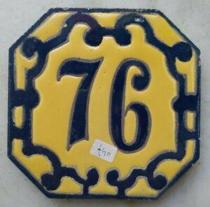 Principio del Siglo XX Número 76 Azulejo Mensaque Rodriguez Triana Sevilla