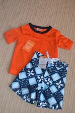 NWT Gymboree Boy 6-12 months Boardshorts Set 2pc Sunscreen Swimsuit & Rashguard