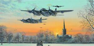 De Havilland Mosquito RAF 'Pathfinder Force' Aircraft Aviation Christmas Card