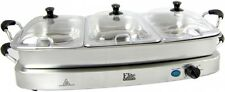 Buffet Server Elite 3-Station Electric Food Warmer Perfect For Parties Home New!