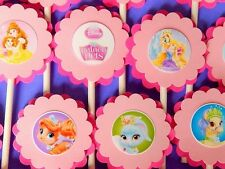 30CT. DISNEY PALACE PETS Cupcake Toppers Birthday Party Favors, Baby Shower Dec