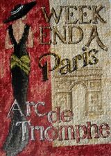 Dimensions Gold Petites Counted Cross Stitch Unframed Picture A Weekend In Paris