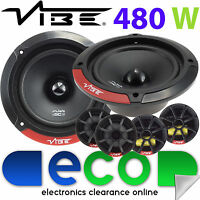 Subaru Impreza 1993-2007 Vibe 13cm 480 Watts Front Door Car Speaker Upgrade Kit