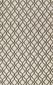 Trellis Contemporary Oriental Area Rug Wool Hand-Tufted Foyer Ivory Carpet 5'x8'