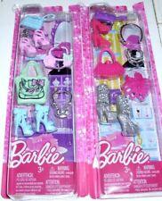 Barbie Fashionistas Accessory 2 Packs Shoes Purse Jewelry Fashions New