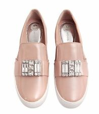 Michael Kors Trainers Michelle Slip On Embellished Sneakers Nude Size 40 New