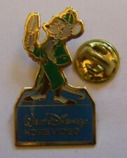 The Great Mouse Detective BASIL vintage pin badge Disney Home Video