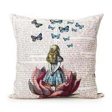 Cute Girl Linen Square Throw Flax Pillow Case Decorative Cushion Pillow Cover  1